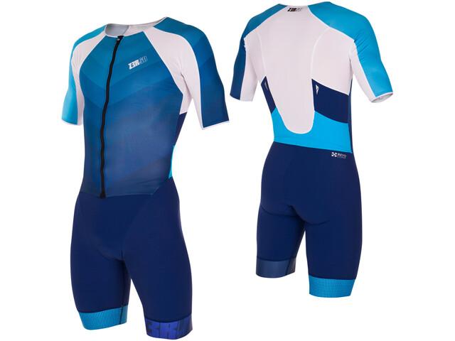 Z3R0D Racer Time Trial Trisuit Men, dark blue/atoll